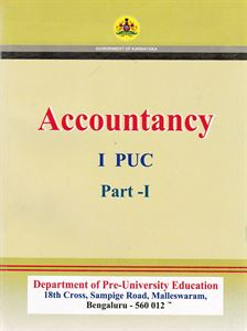 Picture of Accountancy Part-I & II First PUC